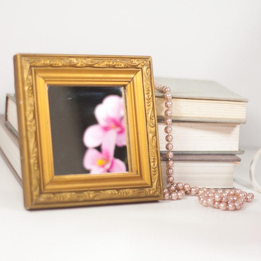 Wooden Makeup Mirror Vintage Small Mirror By CozyTraditions