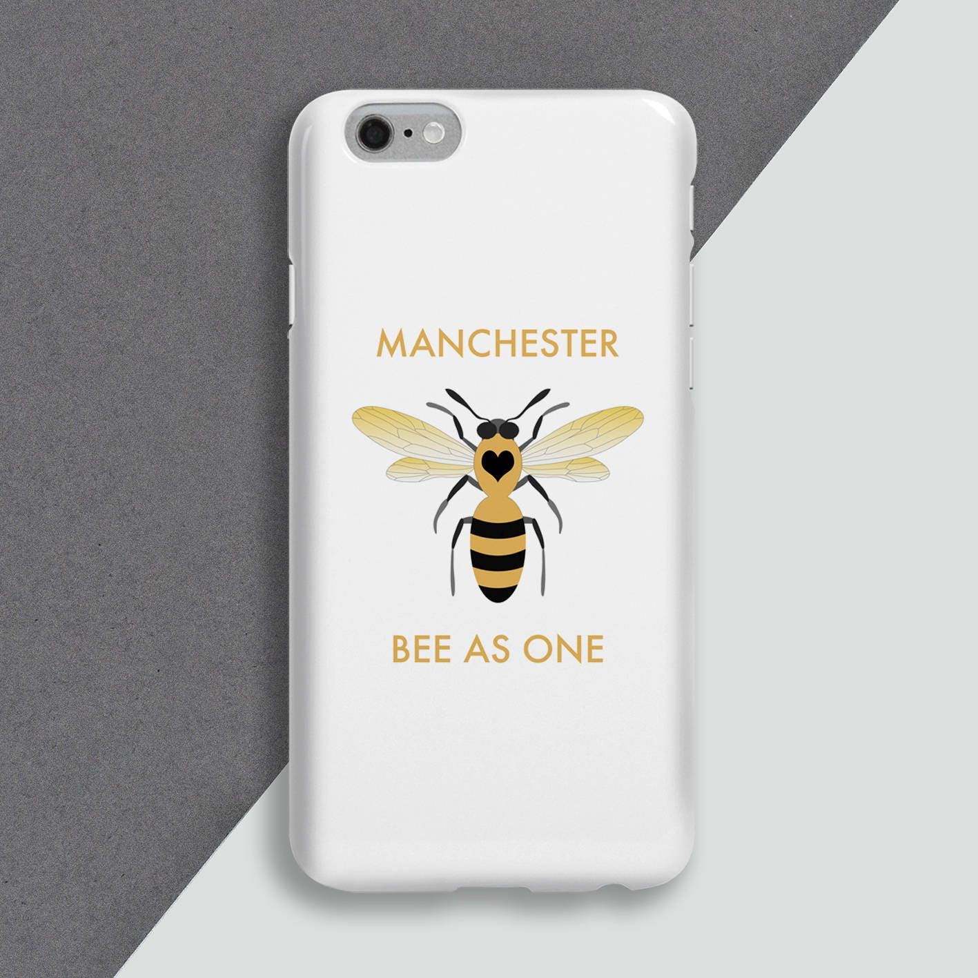 Bee phone cover  personalised phone case Manchester Bees phone skin  personalised cell case  iphone  Charity Phone Cover  Manchester