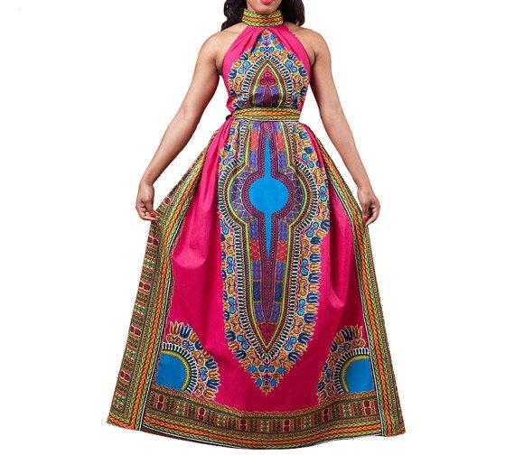 African Dashiki Dress AFRICAN Print african clothing African ladies dress African wax print prom dashiki Lady Womens african Wear