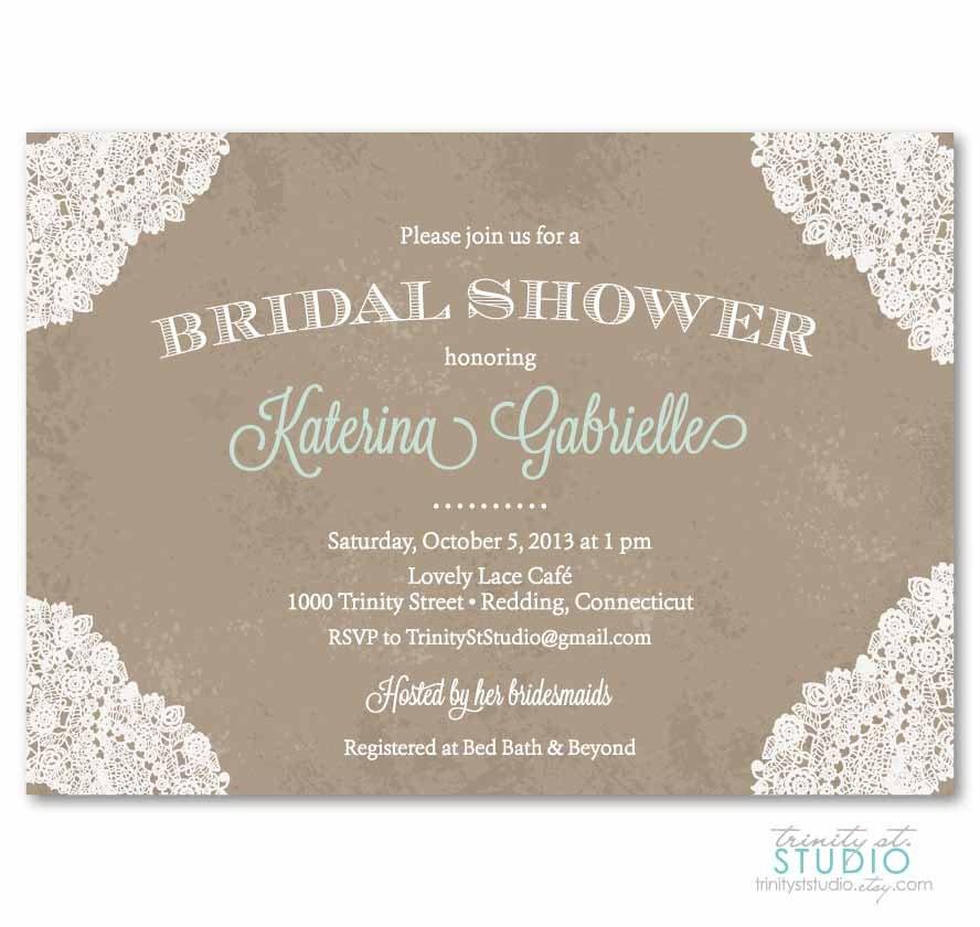 Vintage bridal shower invitations yaseen for for Classic bridal shower invitations
