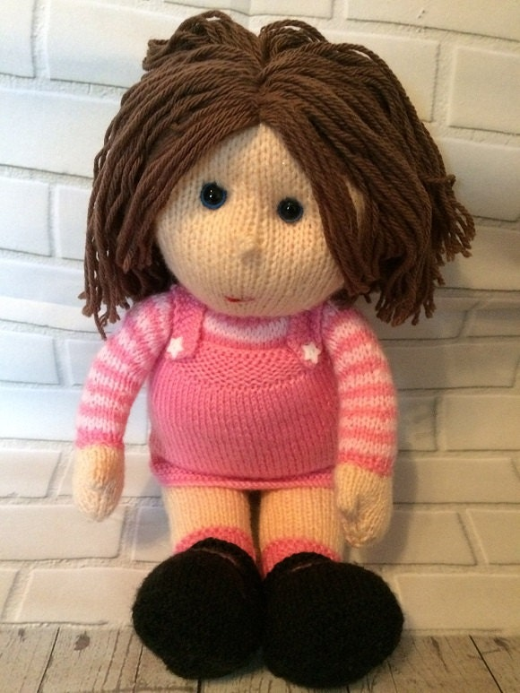 Knitted Doll The Poppets CE Certified Knitted rag doll Suitable from birth Keepsake doll Gift for baby childrens gift plush toy