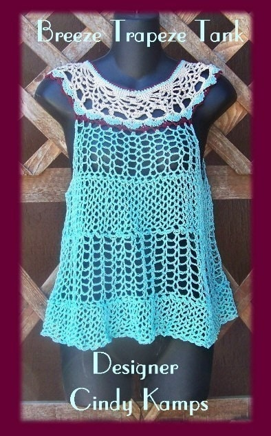 Breeze Trapeze Tank Top Crochet Pattern by crochetbayboutique