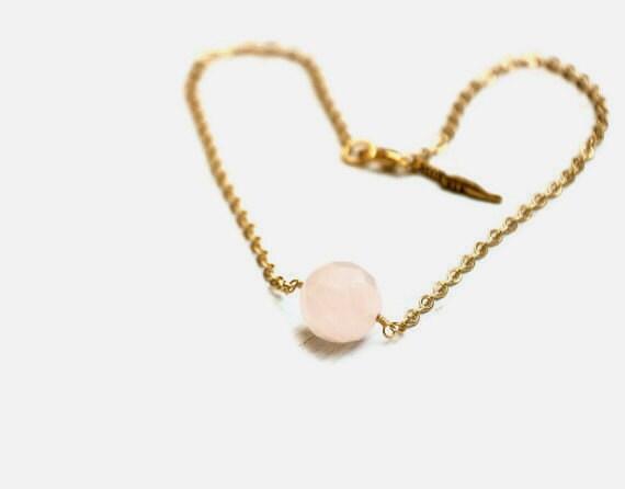 Rose Quartz Romance Necklace - GoldenPlumeJewelry