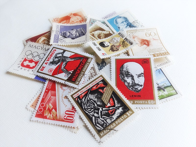 Vintage Hungarian Stamps 1960s Magyar Posta Eastern Europe Stamps Collectable Set of 24 - antiquissimo