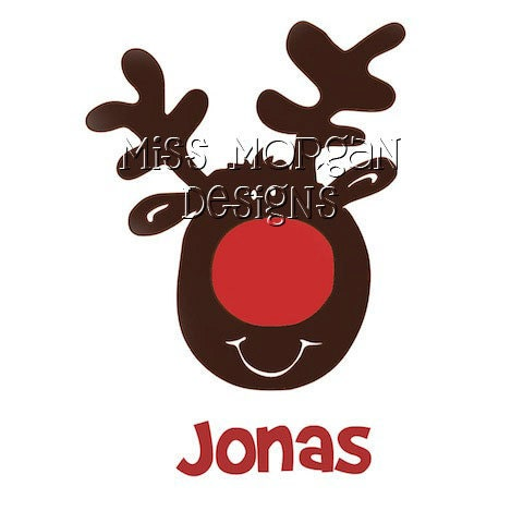 Items Similar To Personalized Reindeer Iron On Decal Vinyl