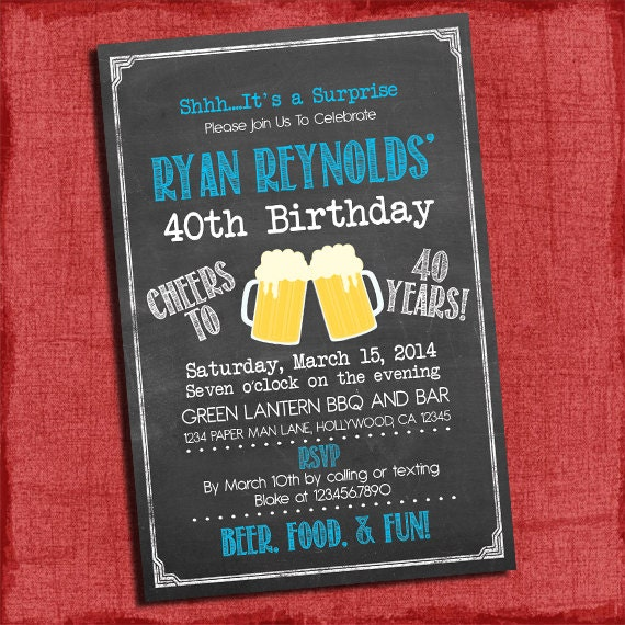 Cool adult birthday invitations