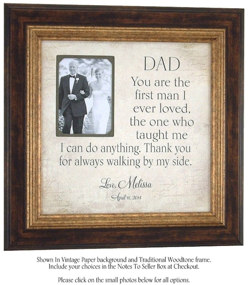 Wedding Gift Dad : ... Father of the Bride Parent Wedding Gift Personalized Picture Frame