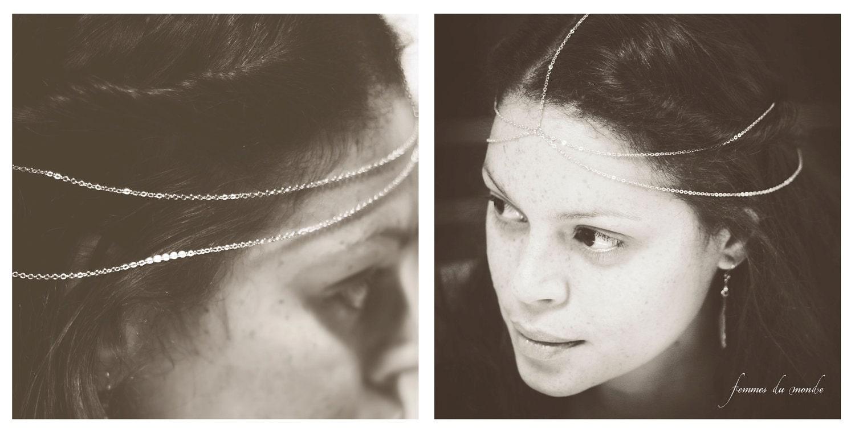 Silver Head Chain - Goddess Hair Chain - Headpiece - Hair Jewelry  Silver Chain Necklace