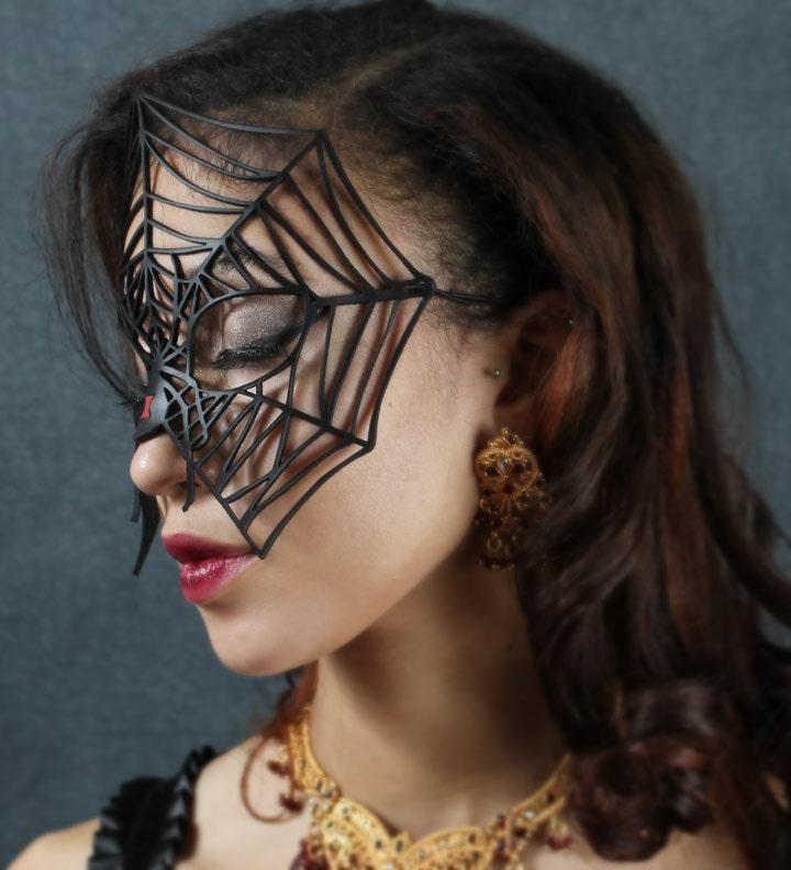 Black Widow Leather mask - TomBanwell