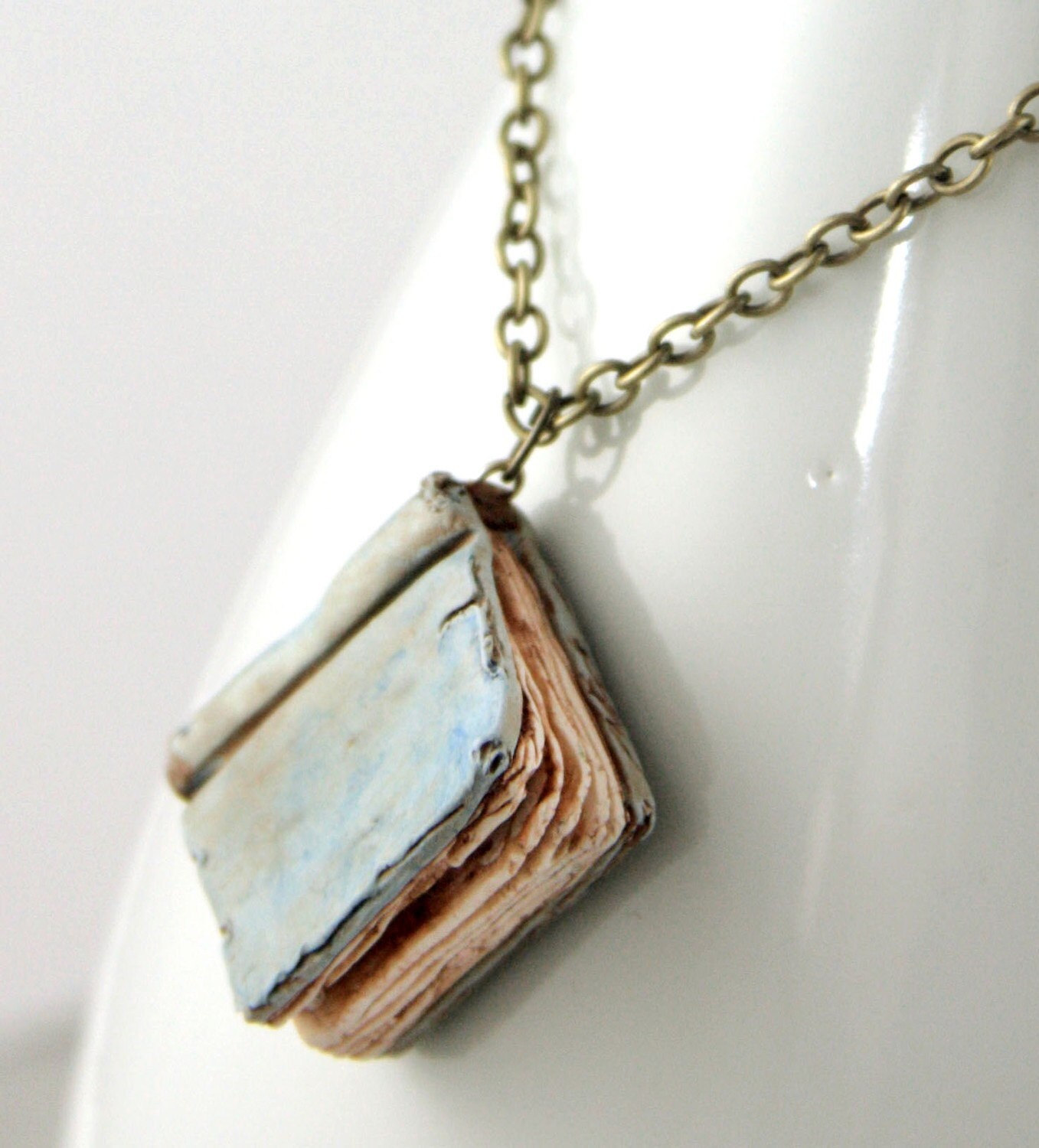 Book Cover Handmade Jewellery : Beloved book necklace jewelry handmade by neverlandjewelry