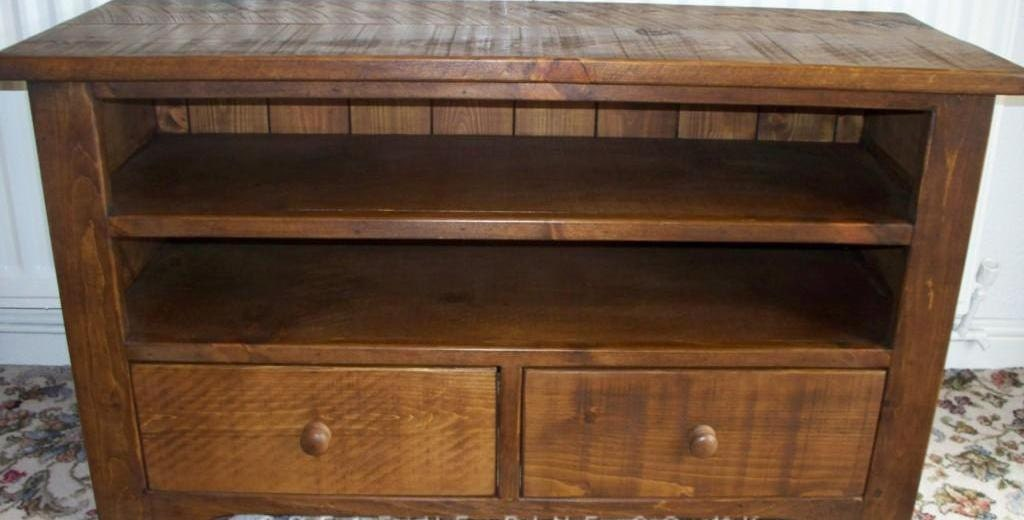 Rustic plank Furniture NEW Real Solid Wood Tv Cabinet tv Stand Entertainment Unit With Drawer indigo furniture rustic sawn pine furniture