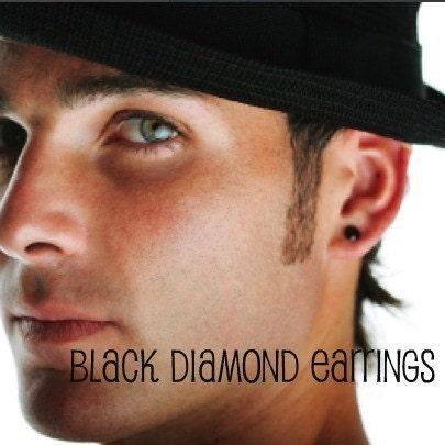 promotion mens black earrings black by 360jewels