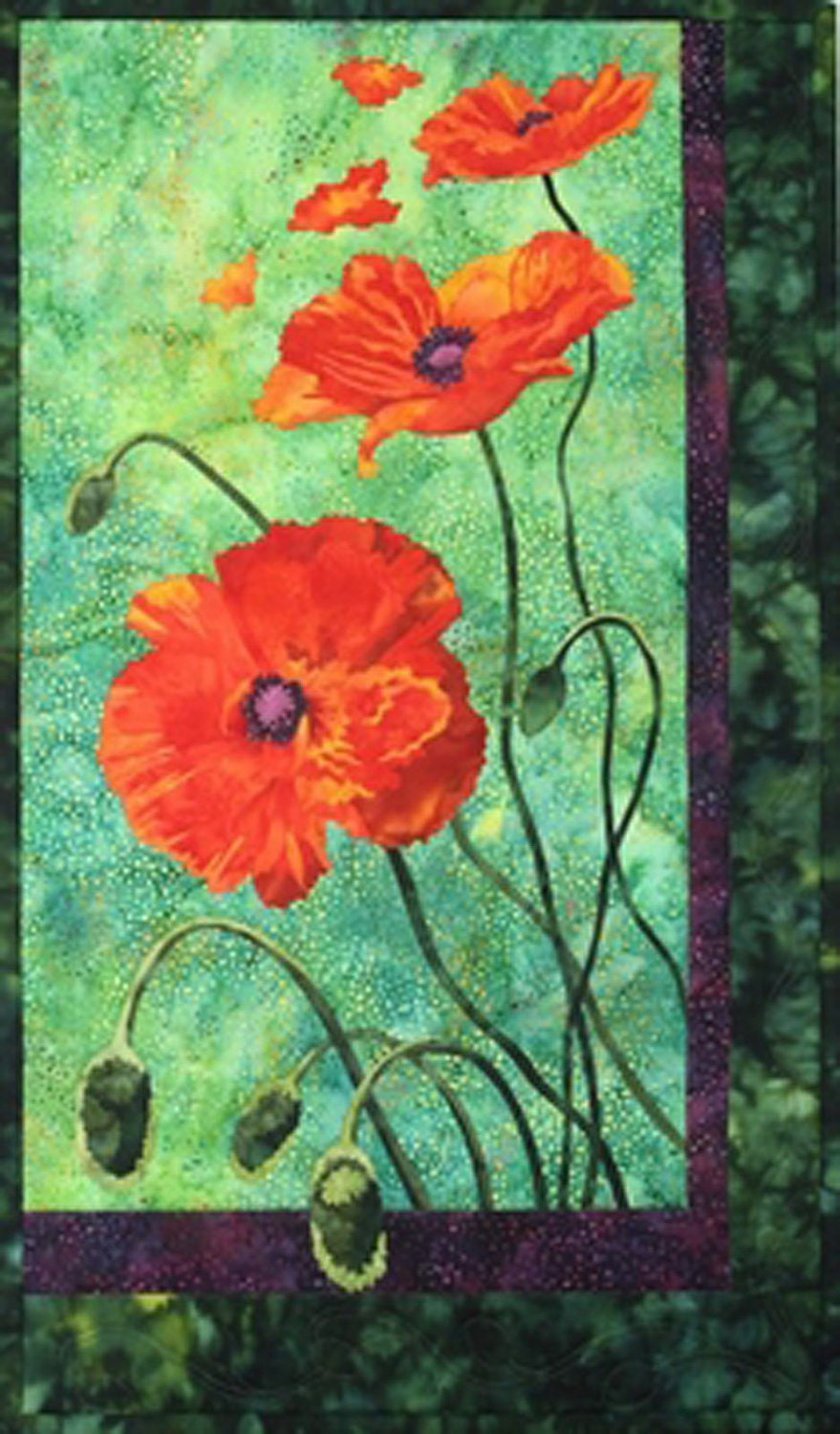Free applique printable poppy patterns