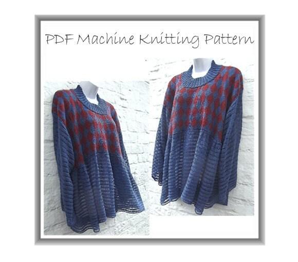 Knitting Machine Pattern : Machine knitting pattern Lagenlook PDF downloadable by beaknitting