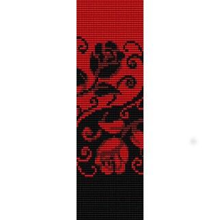 Instant Download Beading Pattern Peyote Stitch Bracelet Yin Yang Roses Seed Bead Cuff