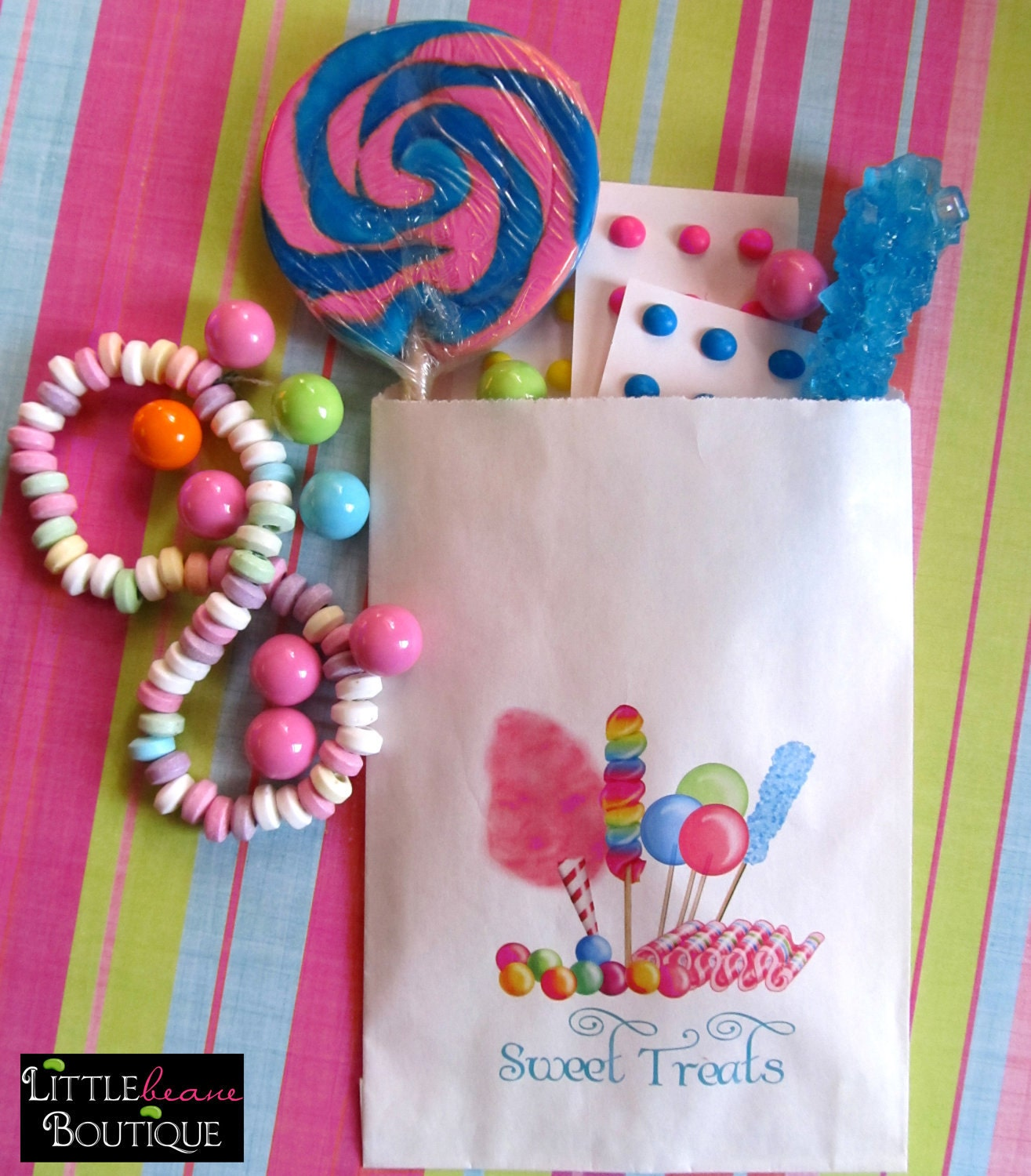 Personalized Candy Bags Favor Bags Candy By LittlebeaneBoutique