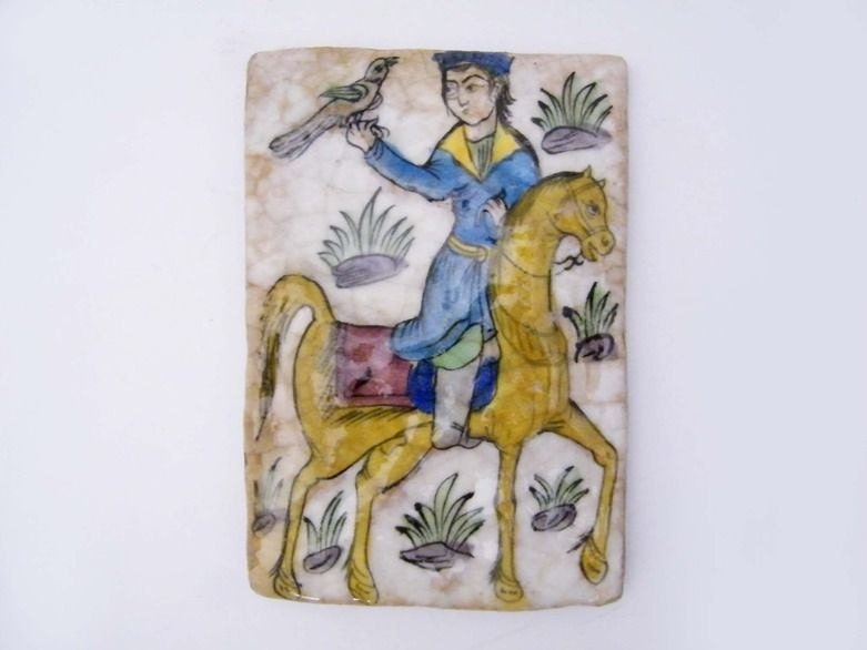 Persian Tile Qajar Period, a worldly treasure - VintagebyViola