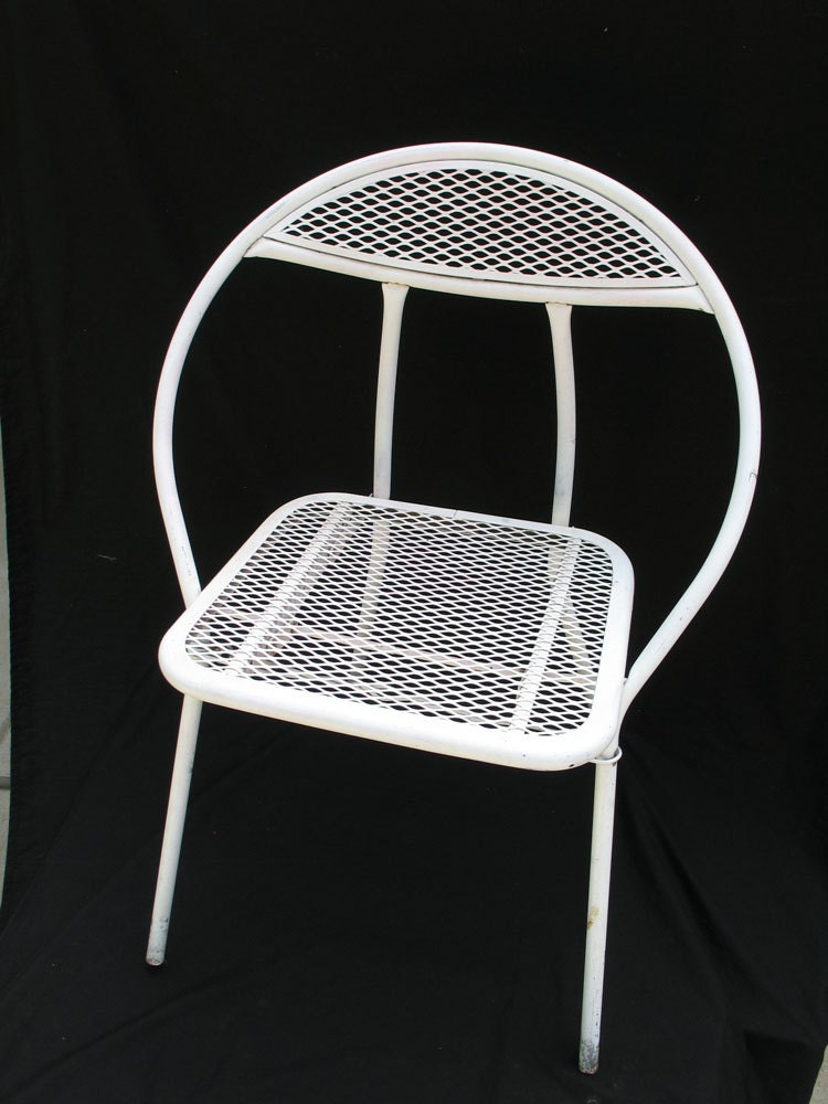 Vintage Salterini Style Metal Garden Chair Mid By Ifindubuy