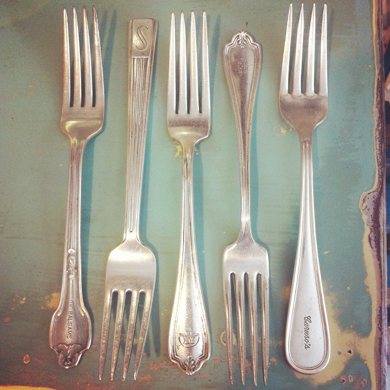 Hotel Collection Plates: Vintage Hotel Silver 4 Piece Flatware Bundle By