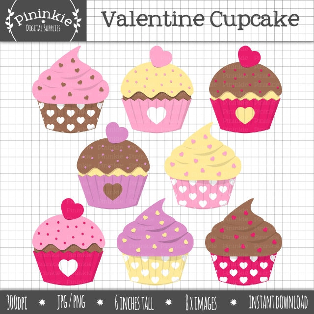 Valentine Cake Clip Art : Valentine Cupcake Clipart Valentine ClipartCupcake by Pininkie