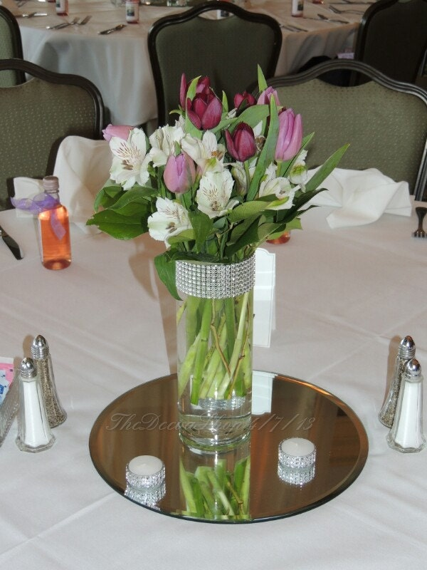 Centerpiece Cylinder Vase Lot Silver Bling By TheDeevaShop On Etsy
