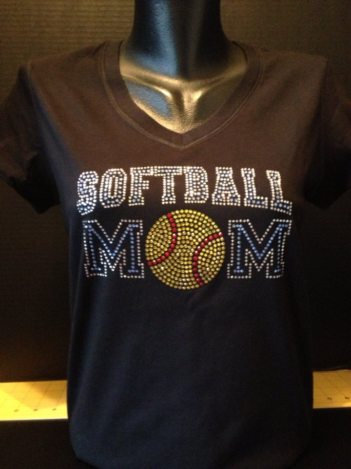 Softball Mom Custom Bling T Shirt By Flashyexpressions On Etsy