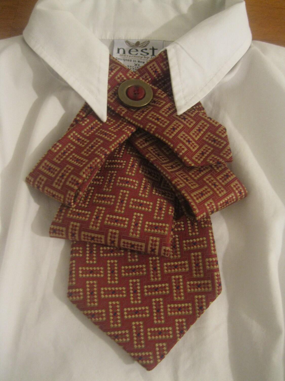 Украшение из галстука своими руками