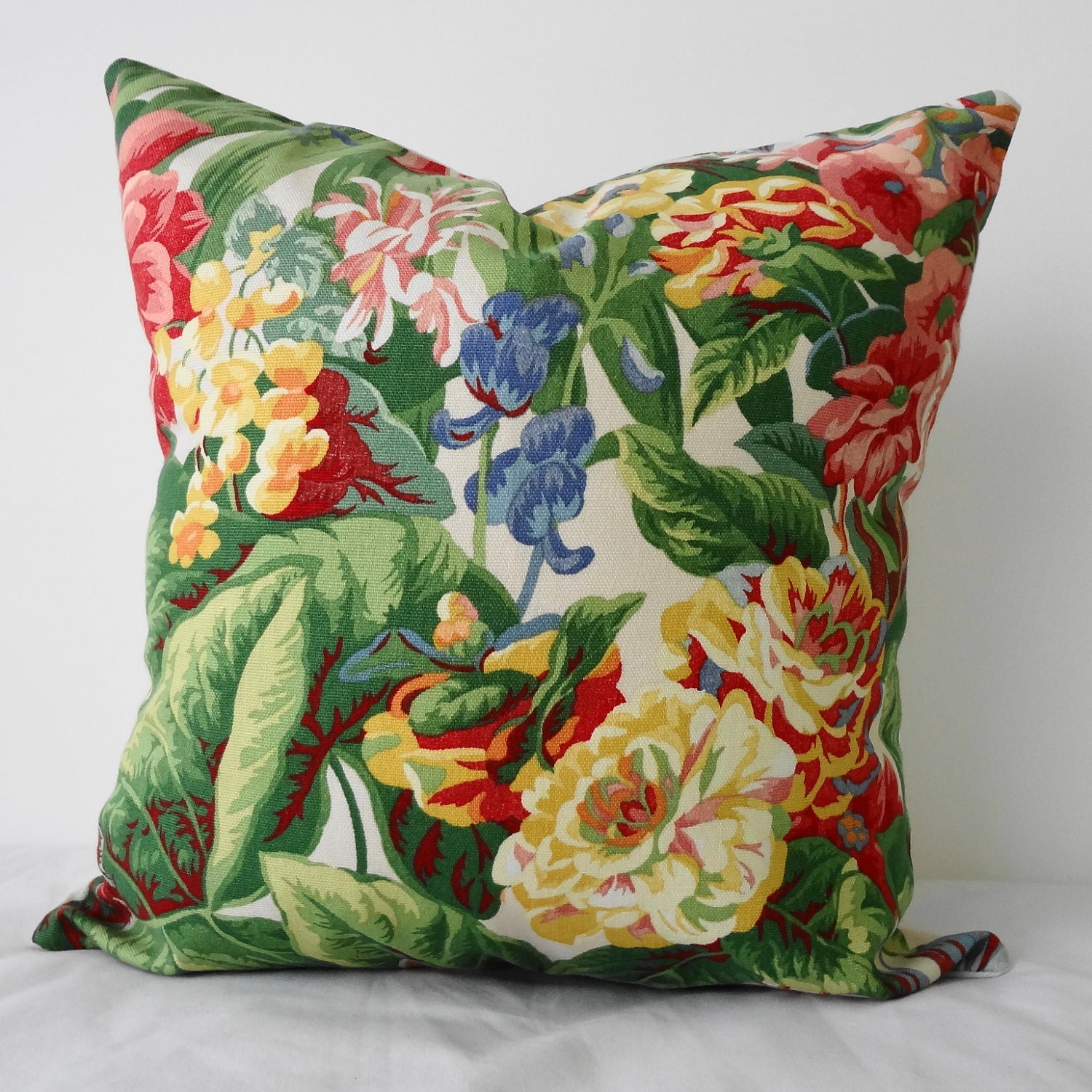 Etsy Decorative Throw Pillow : Floral Print Decorative Throw Pillow Cover Green by pillows4fun