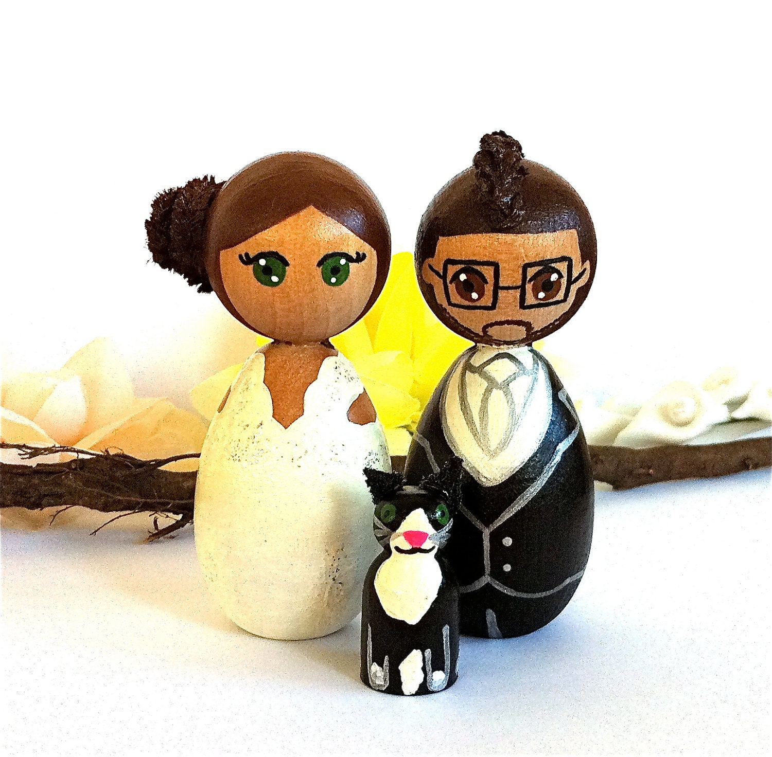 Kokeshi Doll Wedding Cake