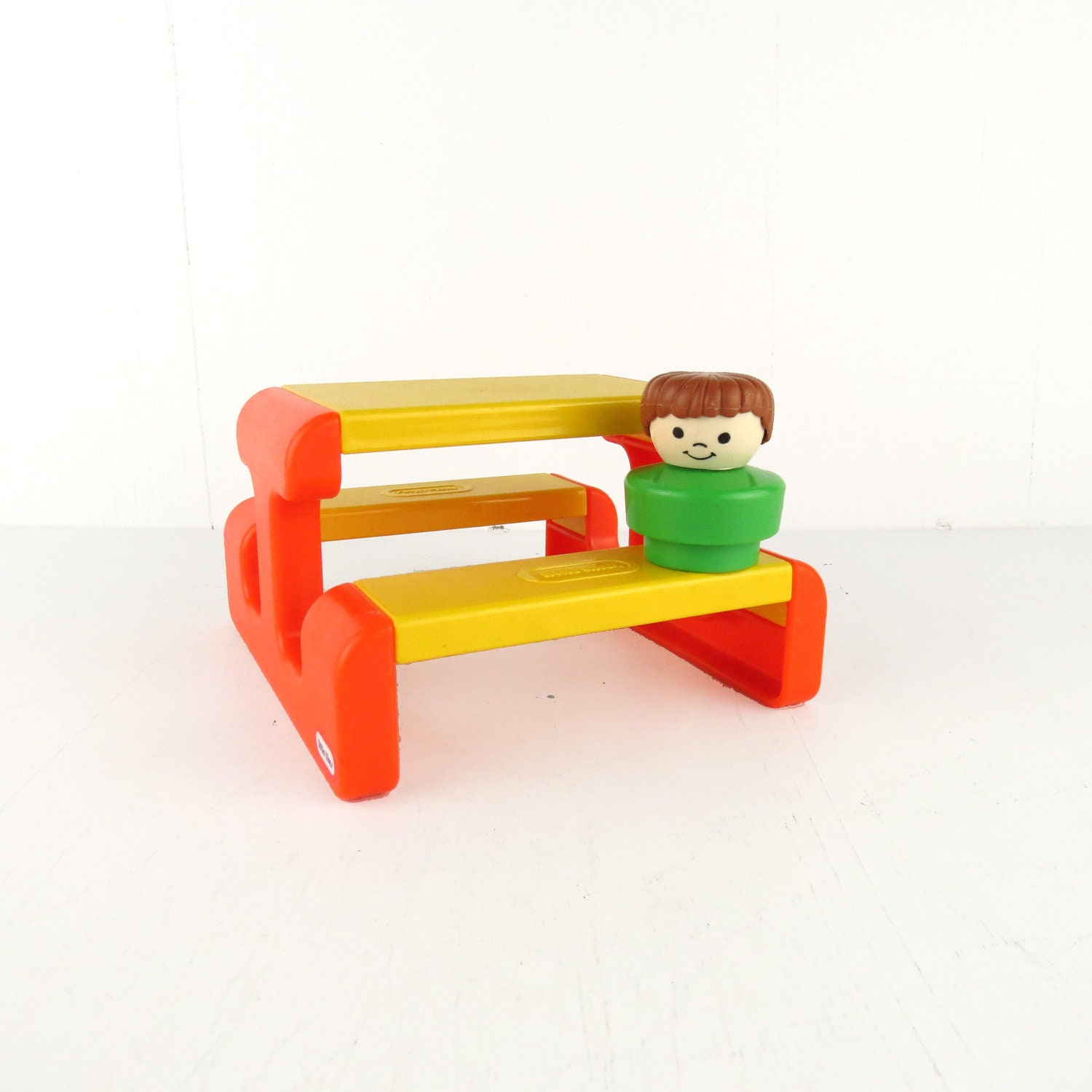 80s little tikes vintage picnic table plastic yellow by