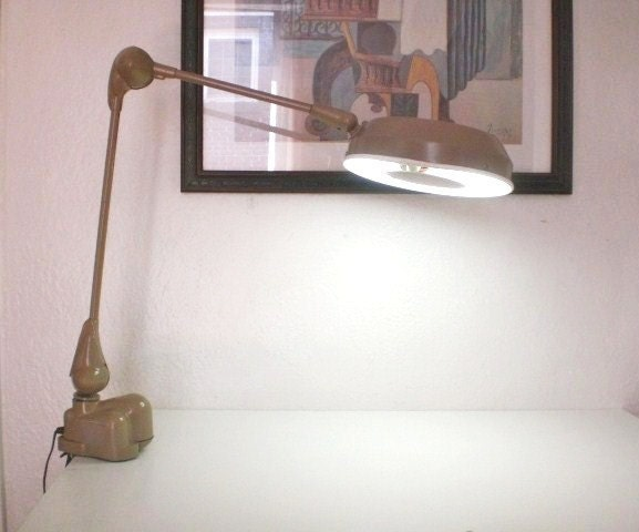 Vintage Magnifying Drafting Lamp Flexo Artist By