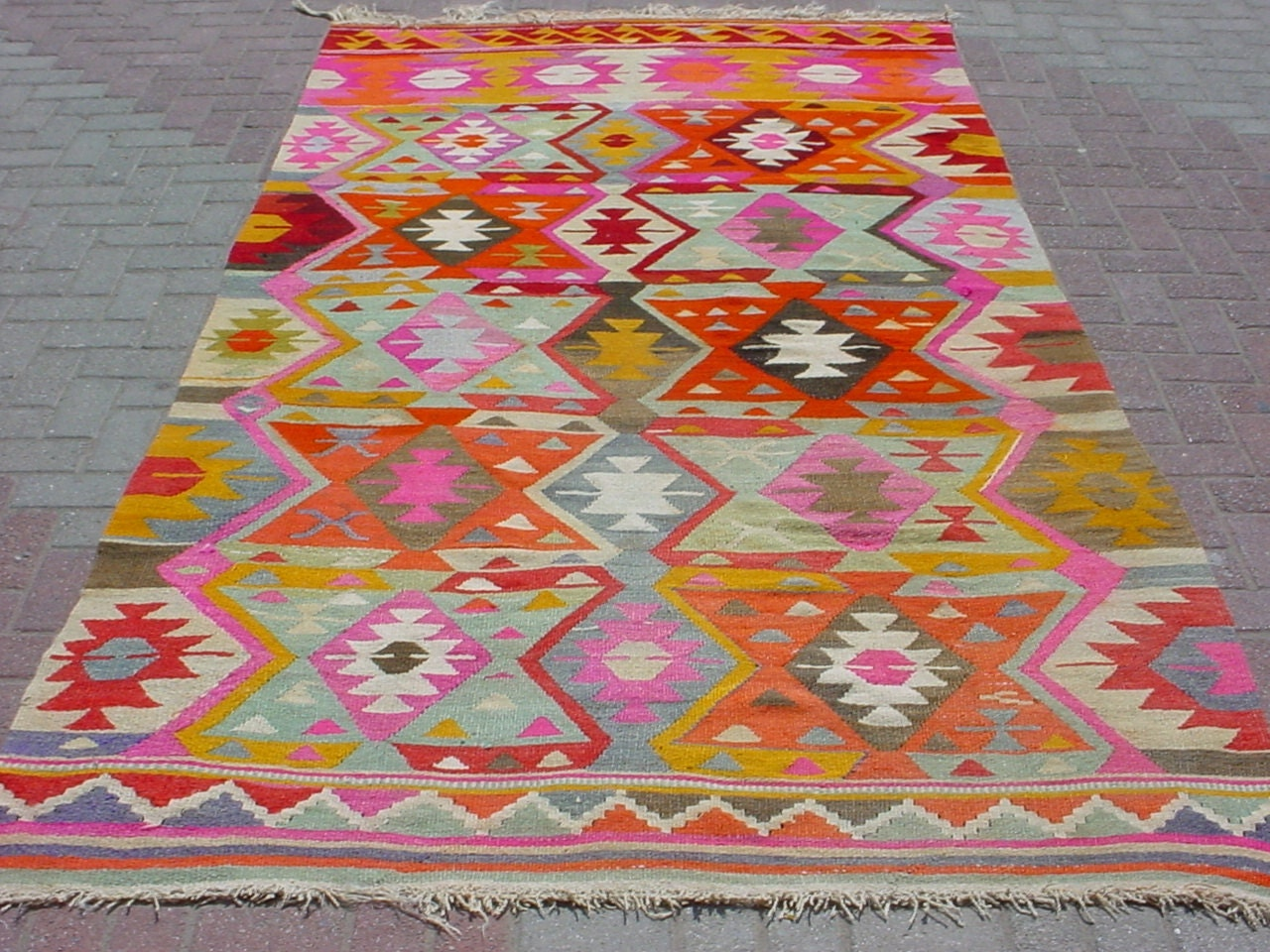 Modern Bohemian Turkish Kilim Area Rug Carpet By