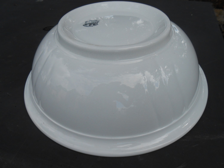 Antique english ironstone basin wash bowl johnson bros 1883 1913