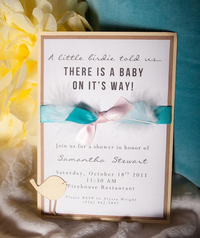 baby shower invitation bird theme by embellishedpaper on etsy