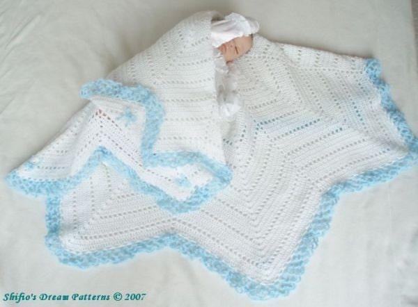 Crochet Baby Blanket Patterns On Etsy : Baby Crochet Pattern Star Shawl Blanket Afghan Crochet by ...