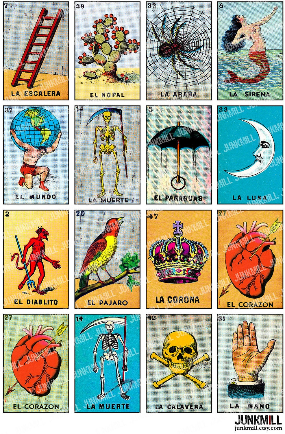 Declarative image pertaining to free printable mexican loteria cards