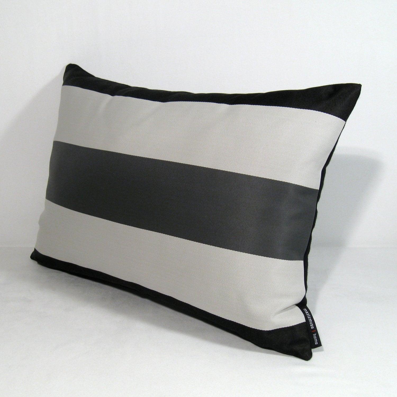 wonderful designs Black And White Stripe Outdoor Pillows