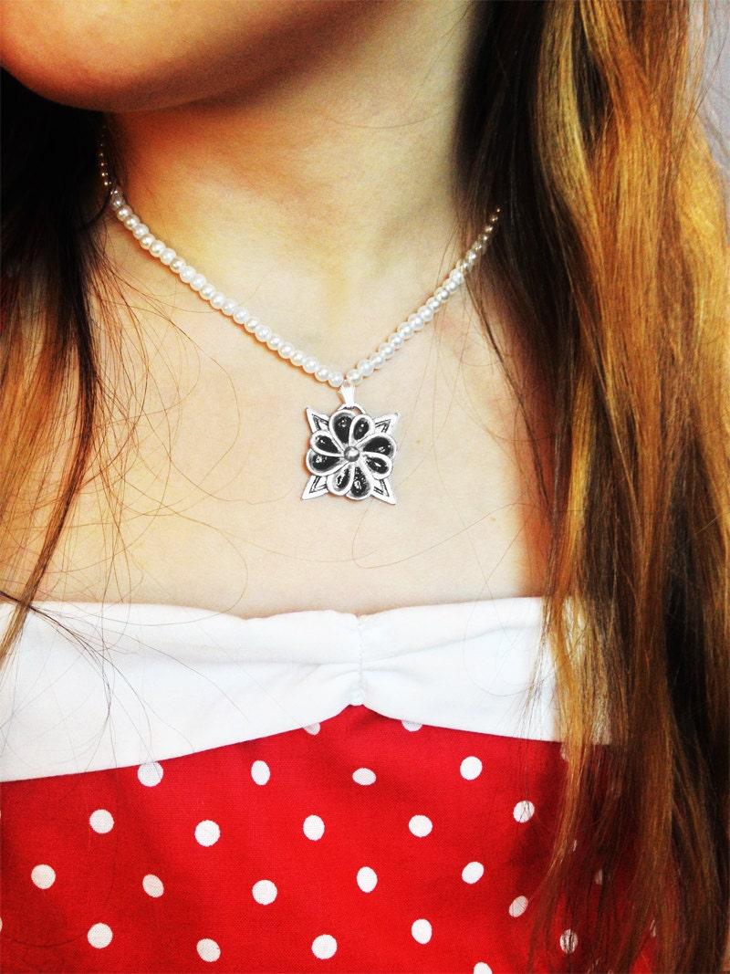 Teen beach movie lela mack friendship flower stainless steel pearl