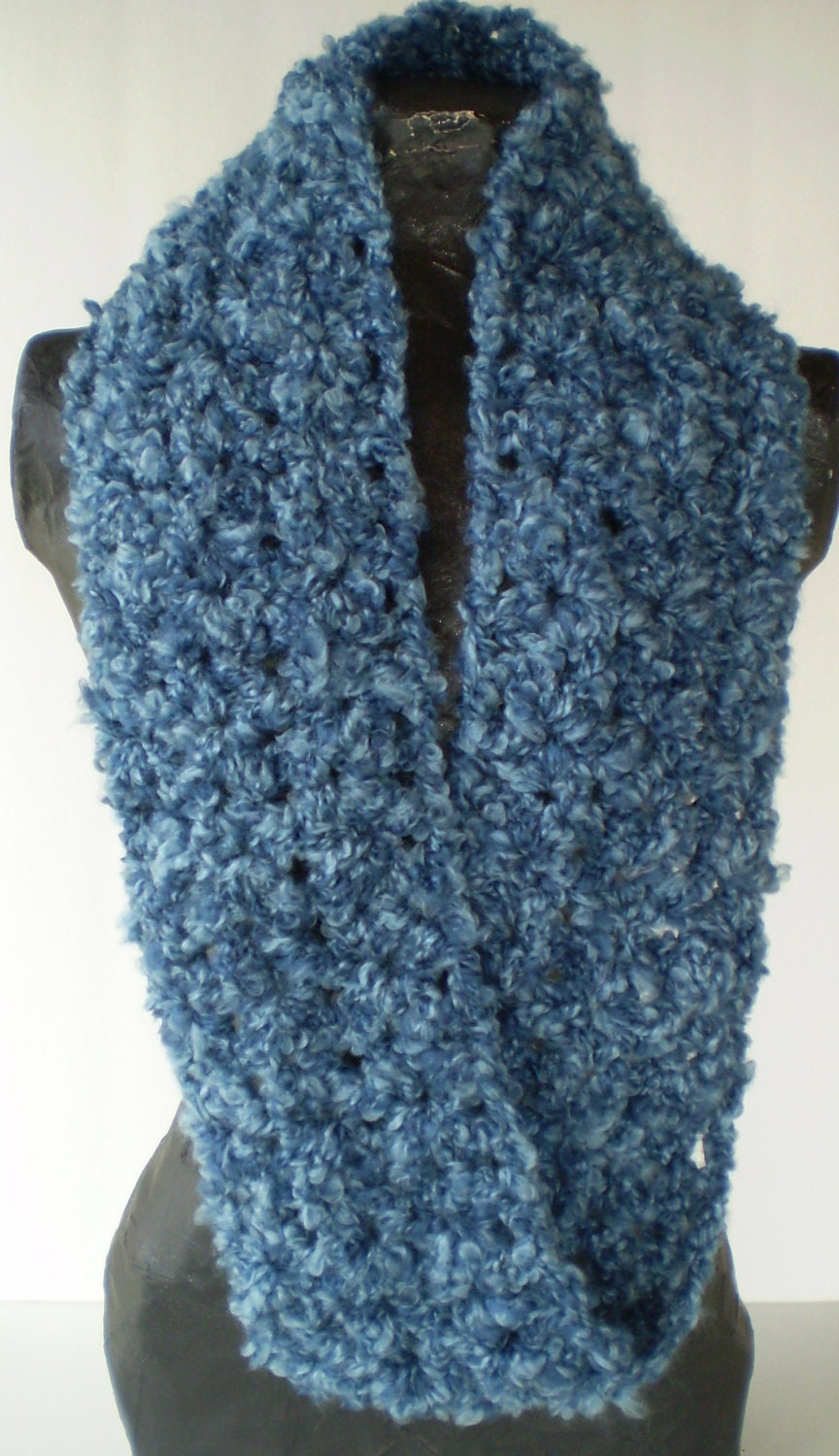 infinity mobius scarf crocheted neck warmer by