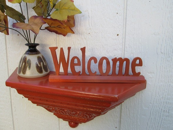 Welcome Painted Wood Sign Fall