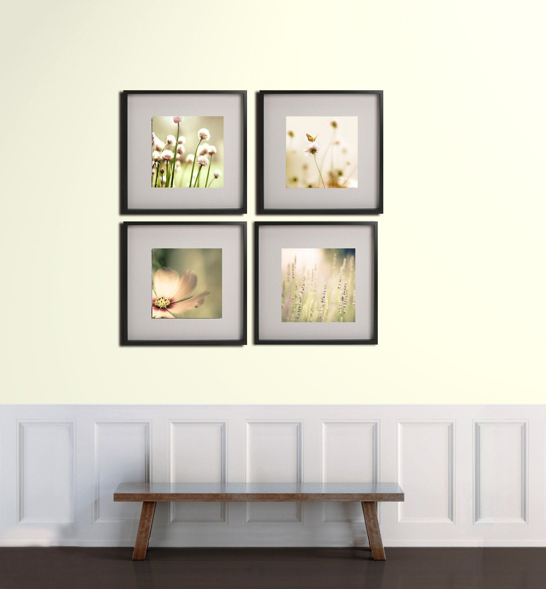 Nature photography print set of 3 ranunculus prints by for Bathroom designs 12x12