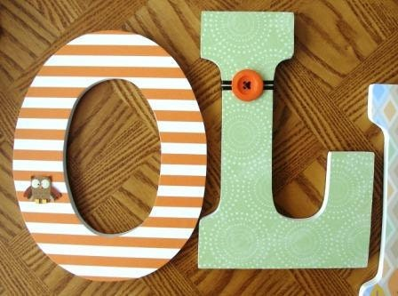 Custom Decorated Wooden Letters STAR Theme Nursery by LetterLuxe
