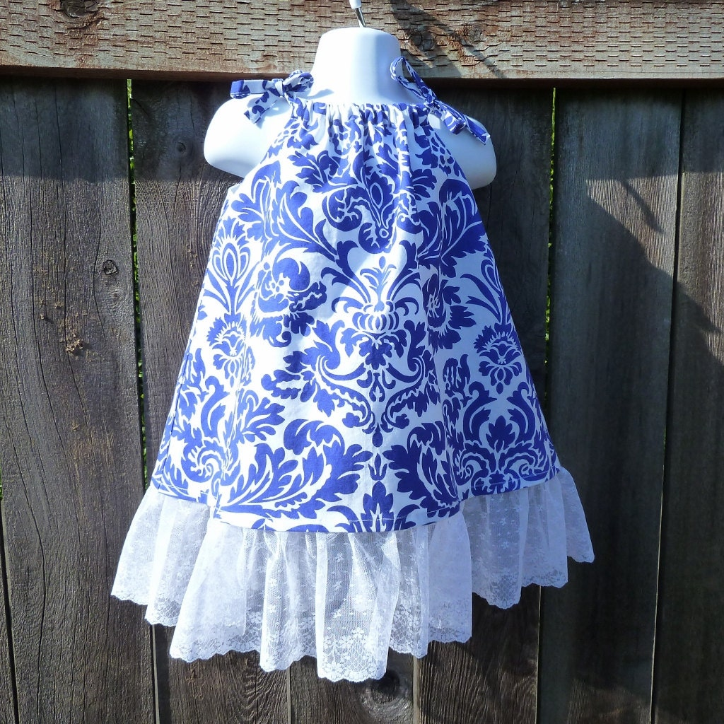 Toddler Girls Size 3T Summer Vacation Dress with Lace Trim - msliesenfelder