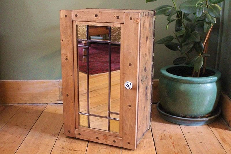 Floor Cabinet Made With 1939 Vintage Trunk  Upcycled