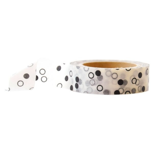 Black and White Polka Dots Washi Tape - LaZoie