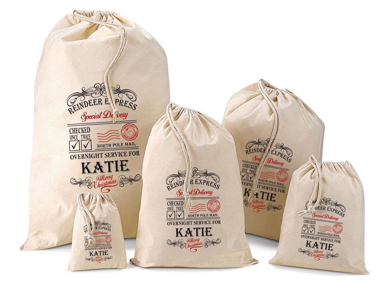 Personalised Santa Sack  Gift Bags  Katie Design