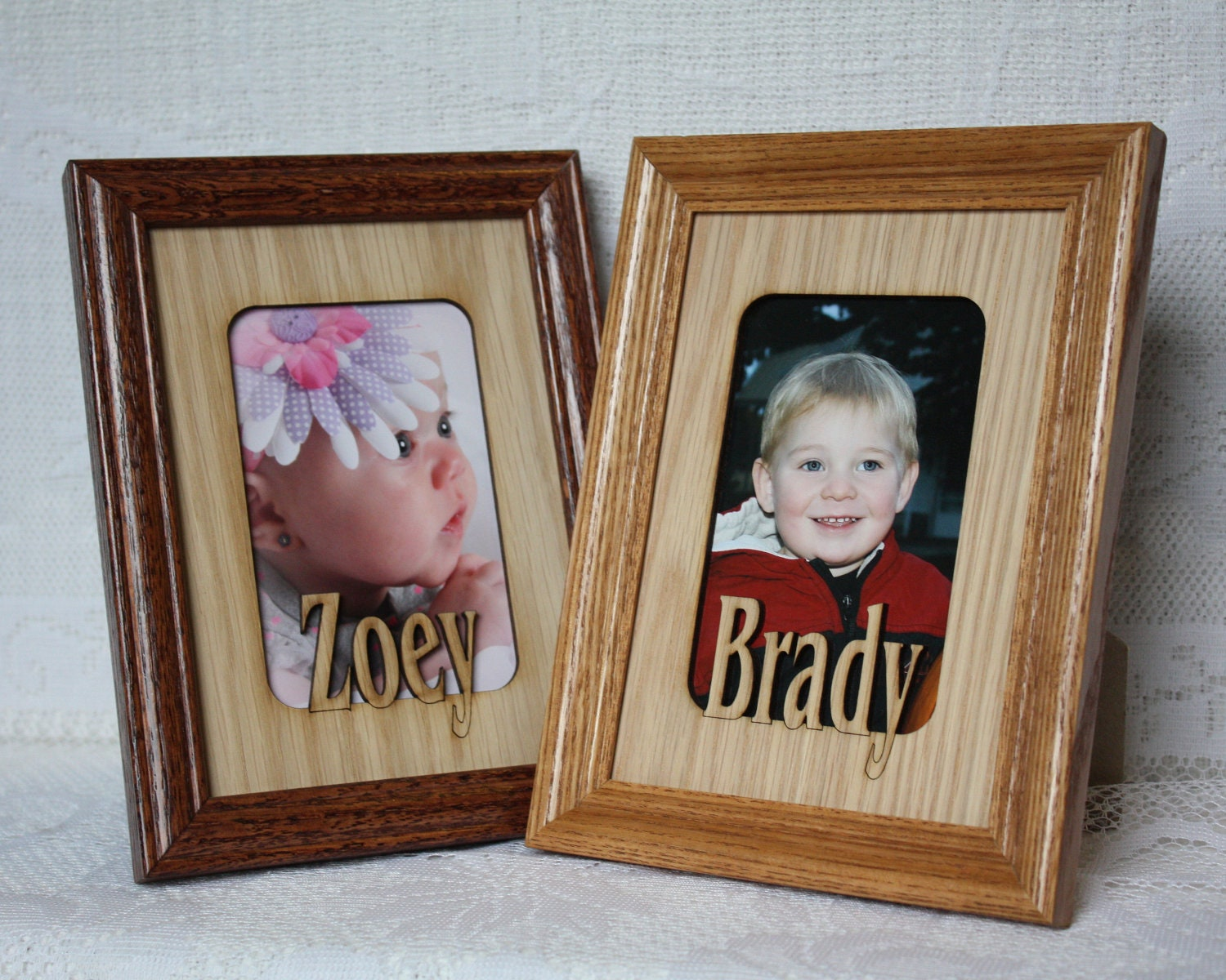 5x7 custom name personalized picture frame mat by jennysframeworks. Black Bedroom Furniture Sets. Home Design Ideas
