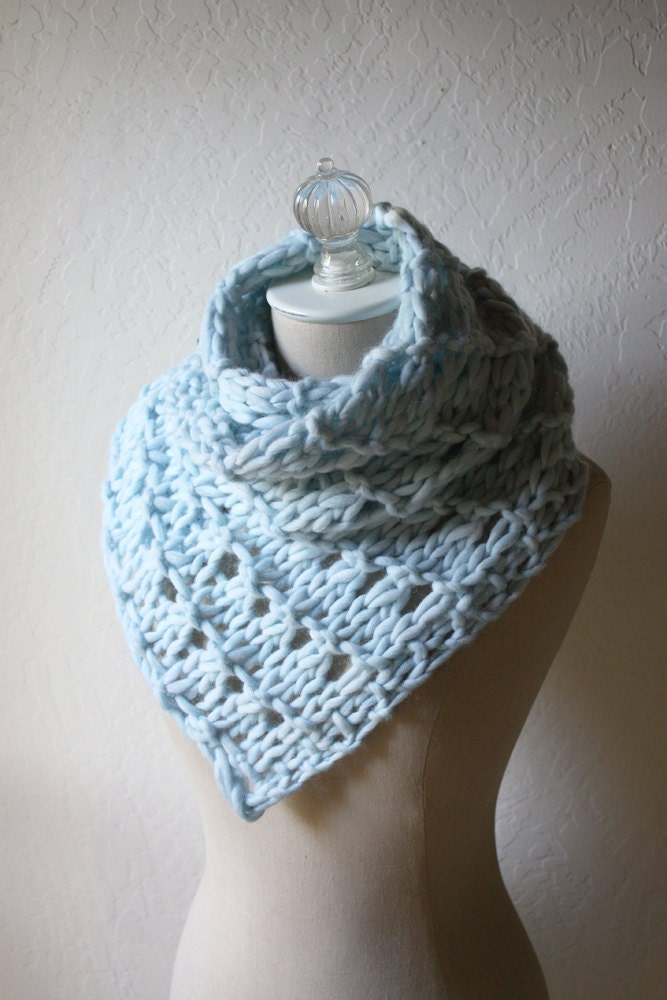 Knitting Pattern / Cowl Scarf Chunky Oversized by phydeauxdesigns