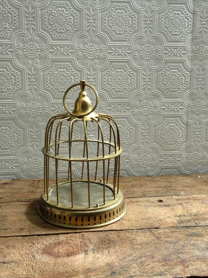 Vintage brass birdcage - OliverandRust