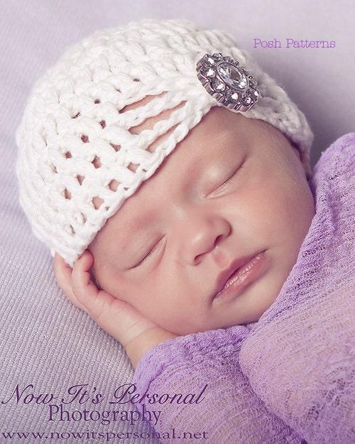 Crochet PATTERN Fancy Crochet Baby Beanie Crochet by ...